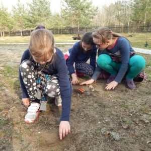 """Educational activities in Educational Forest Centre """"Jagiellońskie"""", photo by Białowieża Forest District"""