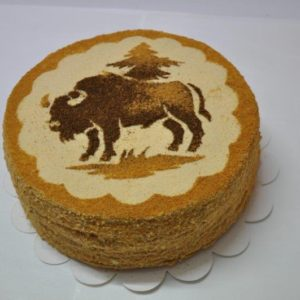 Traditional cake: Marcinek Hajnowski, photo by County Office in Hajnówka