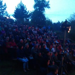 """Outdoor concert in Forest Education Centre """"Jagiellońskie"""", photo by Tomasz Ginszt"""