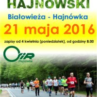 Half-marathon in Hajnowka - poster from 2016, photo by Klaudia Formejster