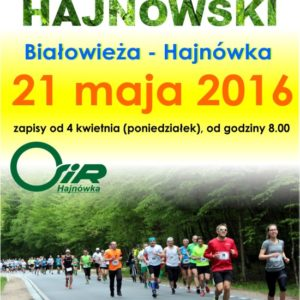 Half-marathon in Hajnowka - poster from 2016, photo by Klaudia Formejster